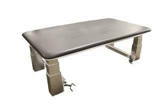 PT2000- Bariatric Electric HiLo Mat Table, Charcoal Cushion