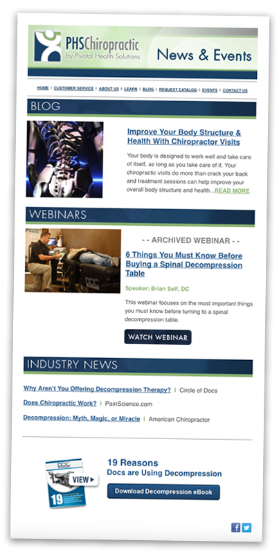PHS Chiropractic Newsletter